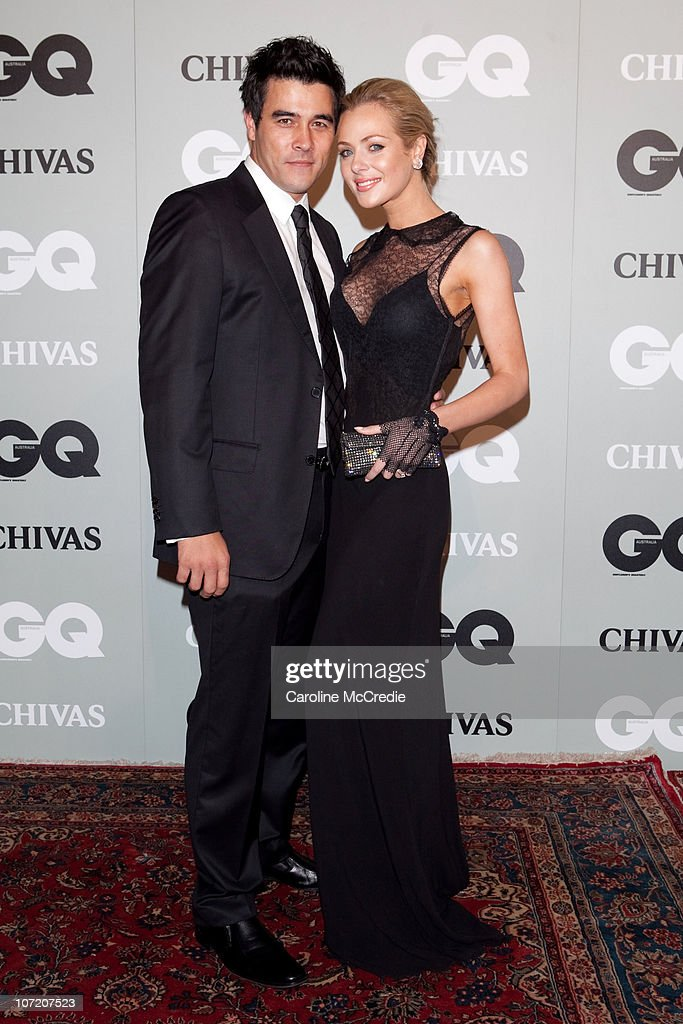 Actress <a gi-track='captionPersonalityLinkClicked' href=/galleries/search?phrase=Jessica+Marais&family=editorial&specificpeople=5424696 ng-click='$event.stopPropagation()'>Jessica Marais</a> and Actor <a gi-track='captionPersonalityLinkClicked' href=/galleries/search?phrase=James+Stewart+-+Actor+-+Born+1975&family=editorial&specificpeople=15325970 ng-click='$event.stopPropagation()'>James Stewart</a> arrive at the 2010 GQ Men of The Year Awards at the Sydney Opera House on November 30, 2010 in Sydney, Australia.