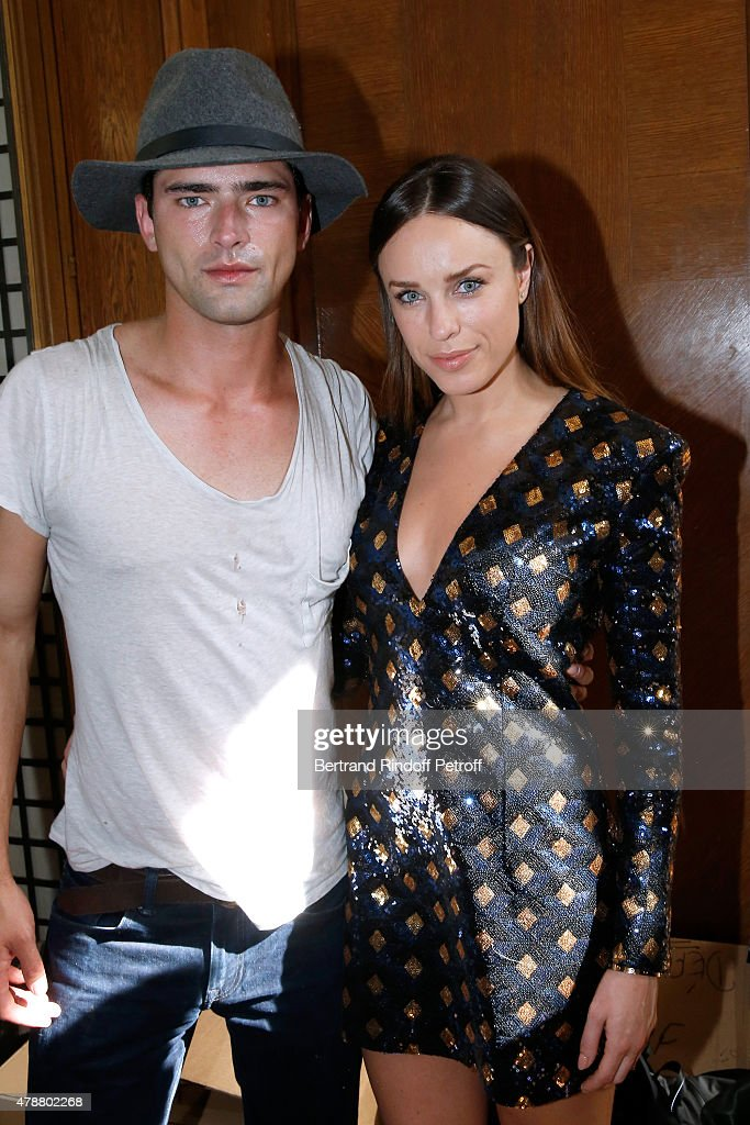 Actress Jessica McNamee and her husband Sean O'Pry attend the Balmain Menswear Spring/Summer 2016 show as part of Paris Fashion Week on June 27, 2015 in Paris, France.
