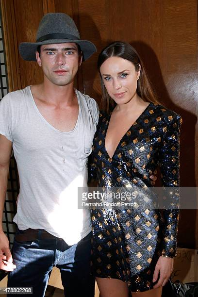 Actress Jessica McNamee and her husband Sean O'Pry attend the Balmain Menswear Spring/Summer 2016 show as part of Paris Fashion Week on June 27 2015...