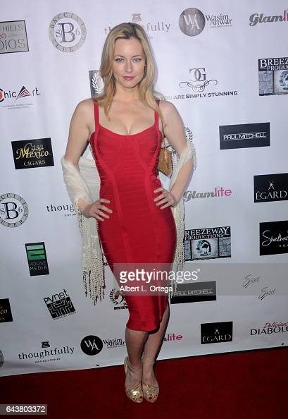 Actress Jessica Morris arrives for the Roman Media Inc's 3rd Annual Red Carpet And Fashion Show held at Boulevard3 on February 21 2017 in Hollywood...