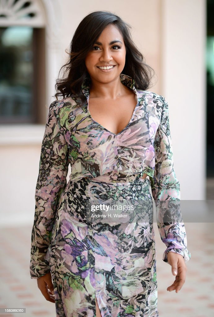 Actress Jessica Mouboy during a portrait session on day seven of the 9th Annual Dubai International Film Festival held at the Madinat Jumeriah Complex on December 15, 2012 in Dubai, United Arab Emirates.