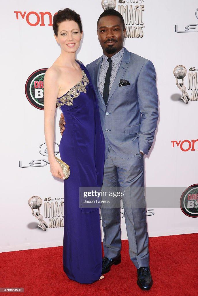 Actress Jessica Oyelowo and actor David Oyelowo attend the 45th NAACP Image Awards at Pasadena Civic Auditorium on February 22, 2014 in Pasadena, California.