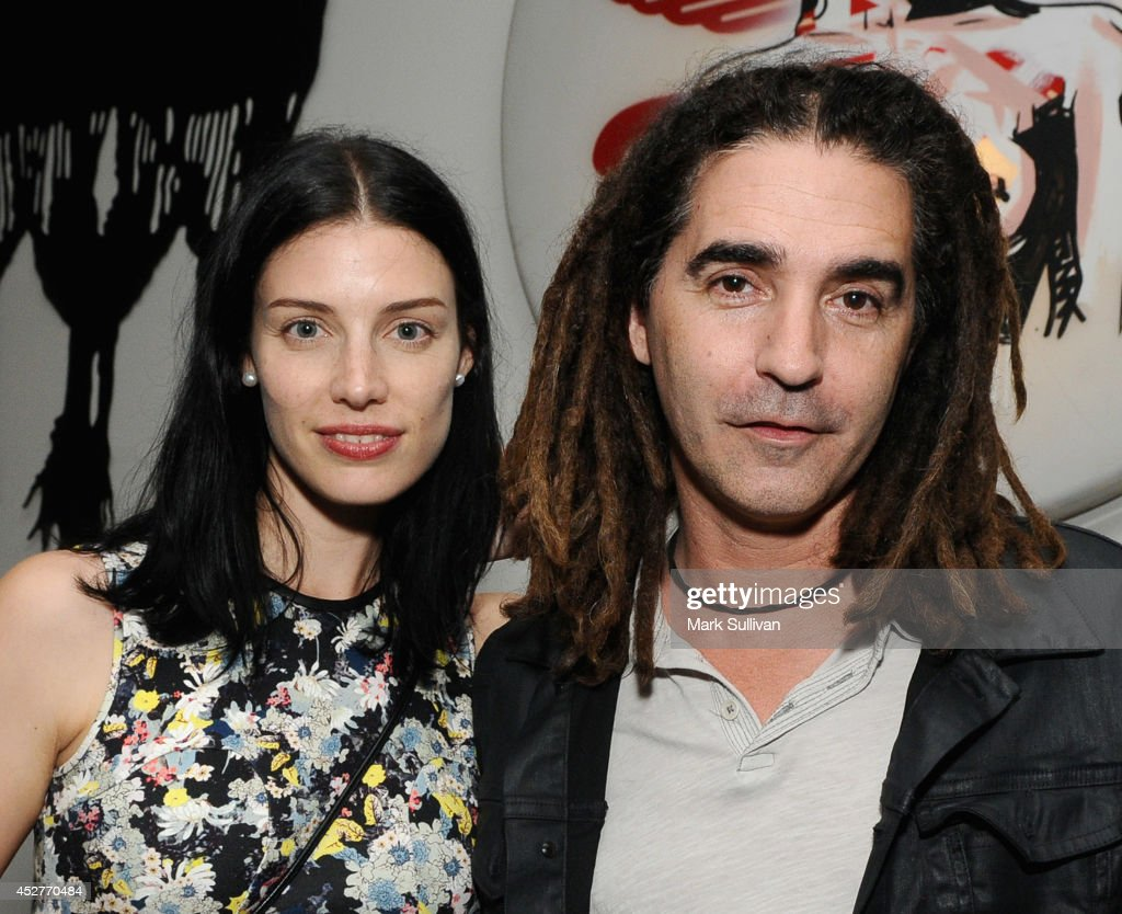 Actress Jessica Paré and musician John Kastner at a dinner following the Book Soup appearance of Gillian McCain and Legs McNeil hosted by Michael and...