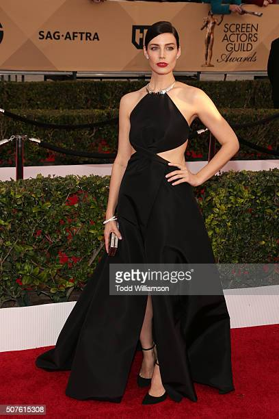 Actress Jessica Paré attends the 22nd Annual Screen Actors Guild Awards at The Shrine Auditorium on January 30 2016 in Los Angeles California