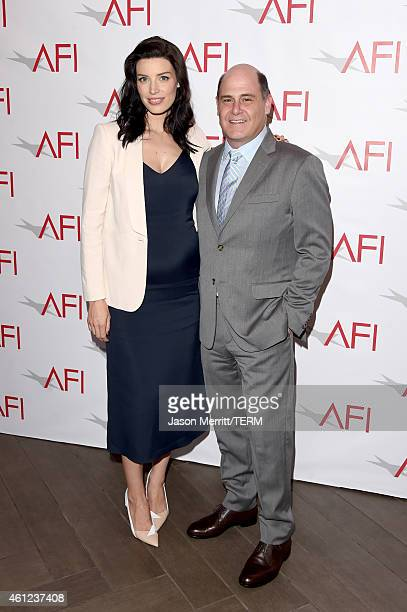 Actress Jessica Pare and producer Matthew Weiner attend the 15th Annual AFI Awards at Four Seasons Hotel Los Angeles at Beverly Hills on January 9...