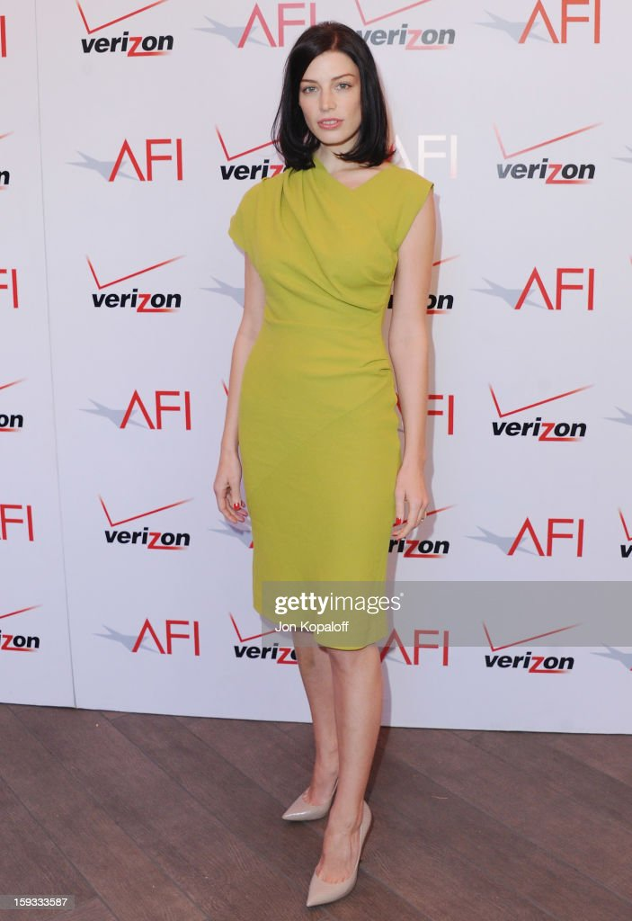 Actress Jessica Pare arrives at the 2012 AFI Awards Luncheon on January 11, 2013 in Beverly Hills, California.