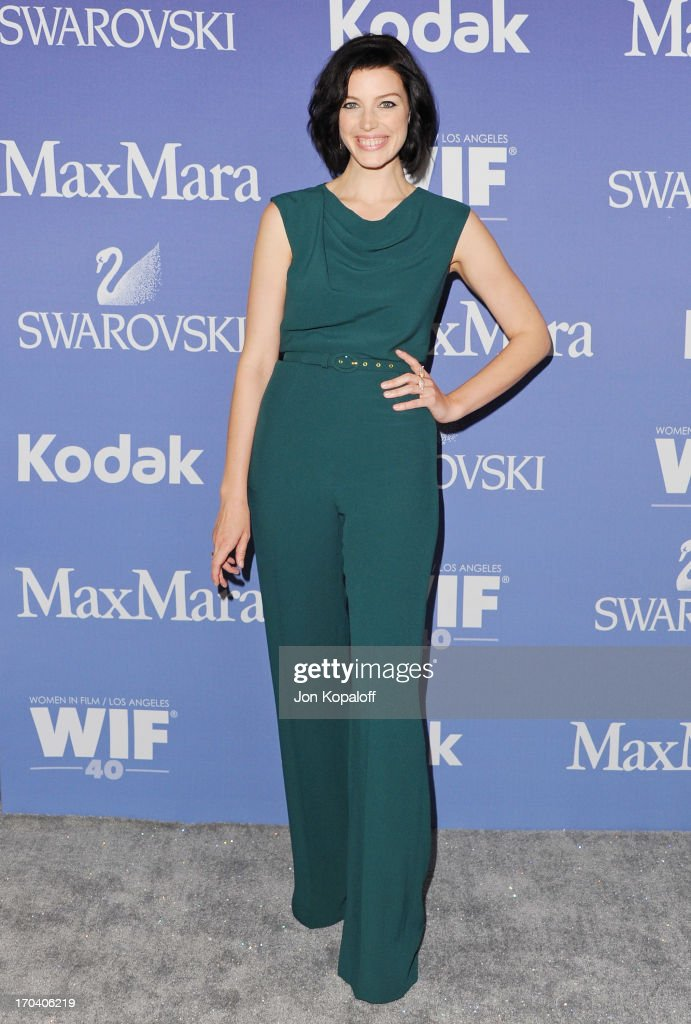 Actress <a gi-track='captionPersonalityLinkClicked' href=/galleries/search?phrase=Jessica+Pare&family=editorial&specificpeople=793183 ng-click='$event.stopPropagation()'>Jessica Pare</a> arrives at the 2013 Women In Film's Crystal + Lucy Awards at The Beverly Hilton Hotel on June 12, 2013 in Beverly Hills, California.