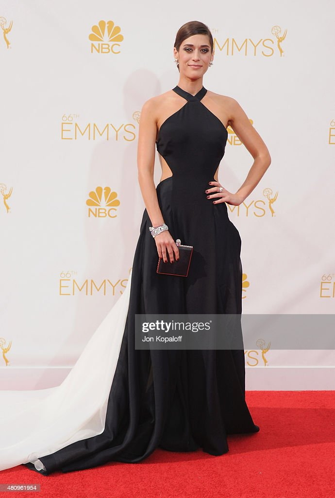 Actress <a gi-track='captionPersonalityLinkClicked' href=/galleries/search?phrase=Jessica+Pare&family=editorial&specificpeople=793183 ng-click='$event.stopPropagation()'>Jessica Pare</a> arrives at the 66th Annual Primetime Emmy Awards at Nokia Theatre L.A. Live on August 25, 2014 in Los Angeles, California.