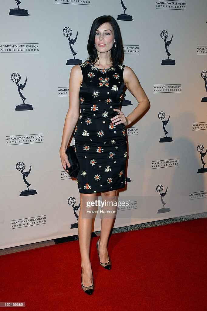 Actress Jessica Pare arrives at The Academy Of Television Arts & Sciences Writer Nominees' 64th Primetime Emmy Awards Reception at Academy of Television Arts & Sciences on September 20, 2012 in North Hollywood, California.