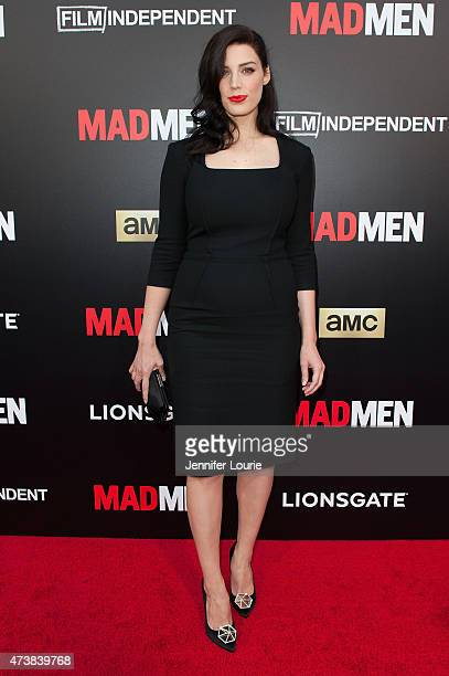 Actress Jessica Pare arrives at the Film Independent special screening of 'Mad Men' at The Ace Hotel Theater on May 17 2015 in Los Angeles California