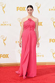 Actress Jessica Pare attends the 67th Annual Primetime Emmy Awards at Microsoft Theater on September 20 2015 in Los Angeles California