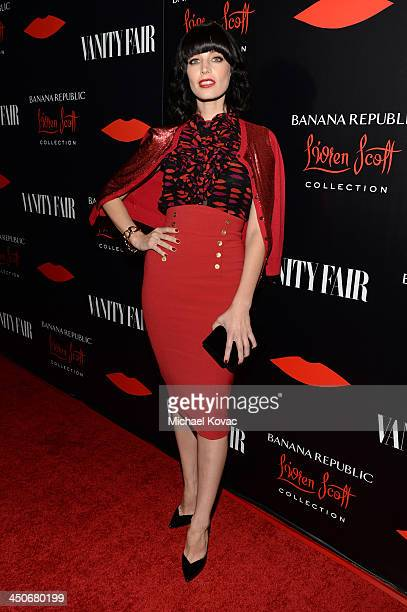 Actress Jessica Pare attends the launch celebration of the Banana Republic L'Wren Scott Collection hosted by Banana Republic L'Wren Scott and Krista...