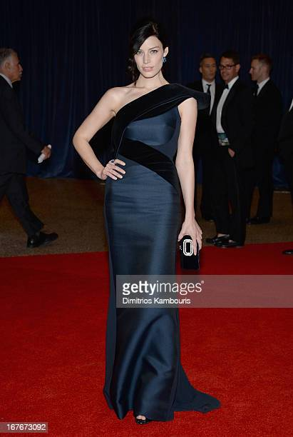 Actress Jessica Pare attends the White House Correspondents' Association Dinner at the Washington Hilton on April 27 2013 in Washington DC