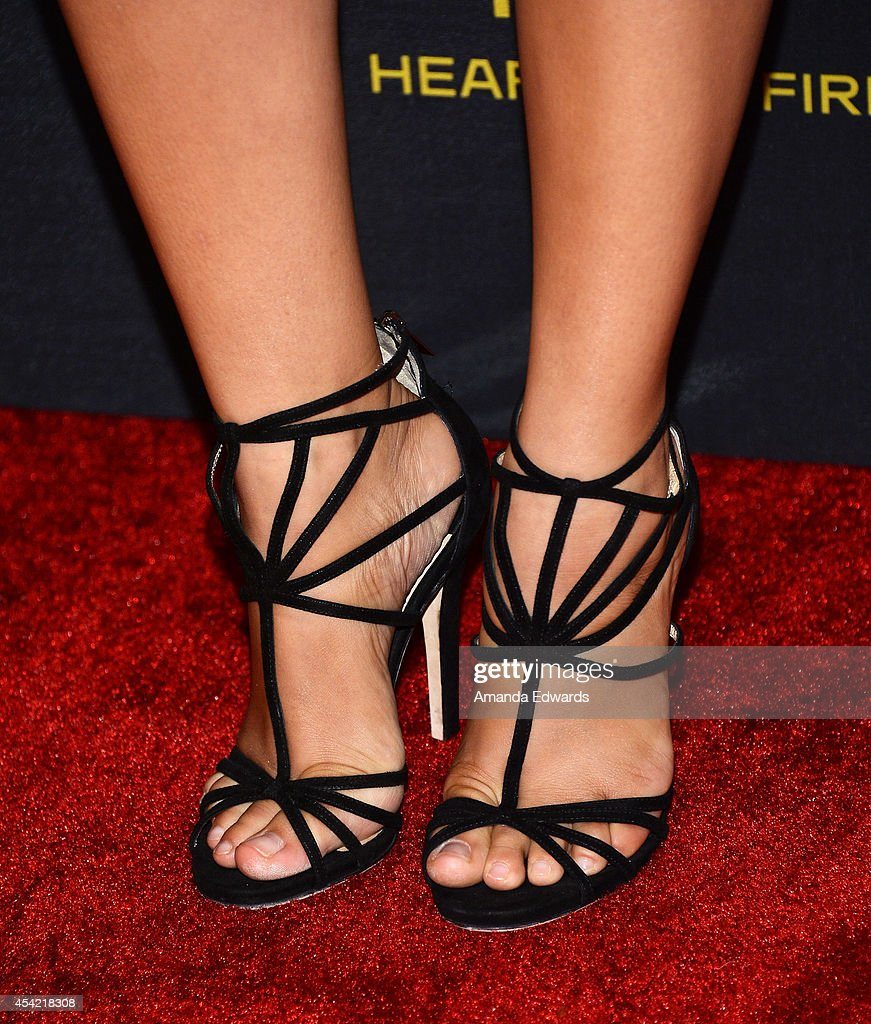 Actress Jessica Parker Kennedy (shoe detail) arrives at the 2014 Entertainment Weekly Pre-Emmy Party at Fig & Olive Melrose Place on August 23, 2014 in West Hollywood, California.