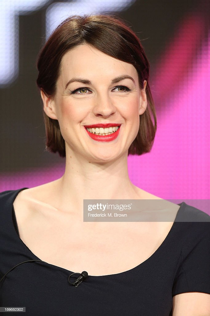 Actress Jessica Raine speaks onstage during the 'Call The Midwife' panel discussion during the PBS Portion- Day 2 of the 2013 Winter Television Critics Association Press Tour at Langham Hotel on January 15, 2013 in Pasadena, California.