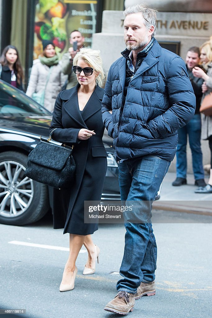 Actress Jessica Simpson and Eric Johnson seen on the streets of Manhattan on March 13 2015 in New York City