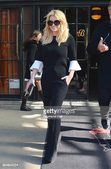 Actress Jessica Simpson is seen walking in Soho on January 13 2016 in New York City
