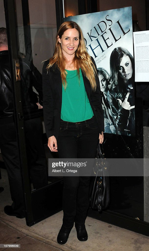 Actress Jessica Sonneborn arrives for the Screening of 'Bad Kids Go To Hell' held at Laemmle Music Hall Theater on December 7, 2012 in Beverly Hills, California.