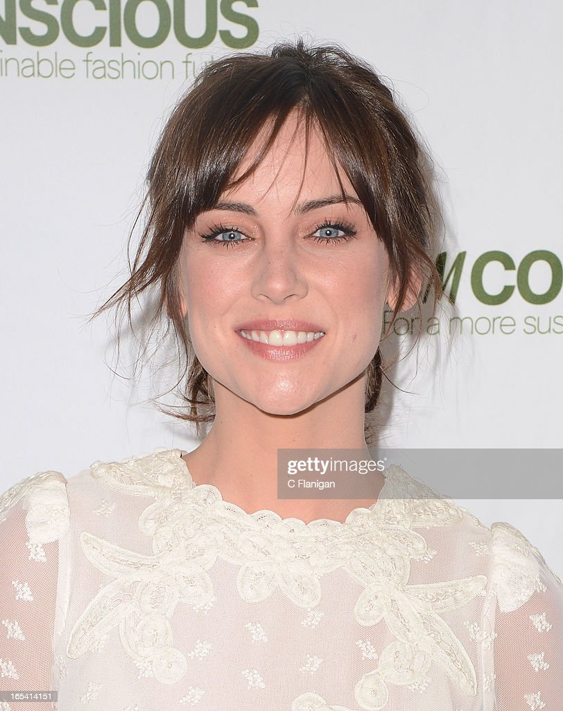 Actress Jessica Stroup arrives at H&M's Exclusive Conscious Collection Launch Party on April 3, 2013 in San Francisco, California.