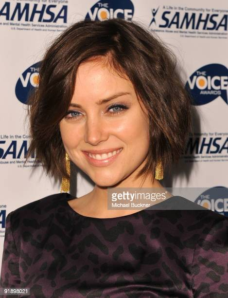 Actress Jessica Stroup arrives at the 2009 Voice Awards at Paramount Studios on October 14 2009 in Los Angeles California
