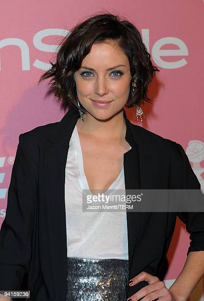 Actress Jessica Stroup arrives at the 2nd annual Golden Globes party saluting young Hollywood held at Nobu Los Angeles on December 8 2009 in West...