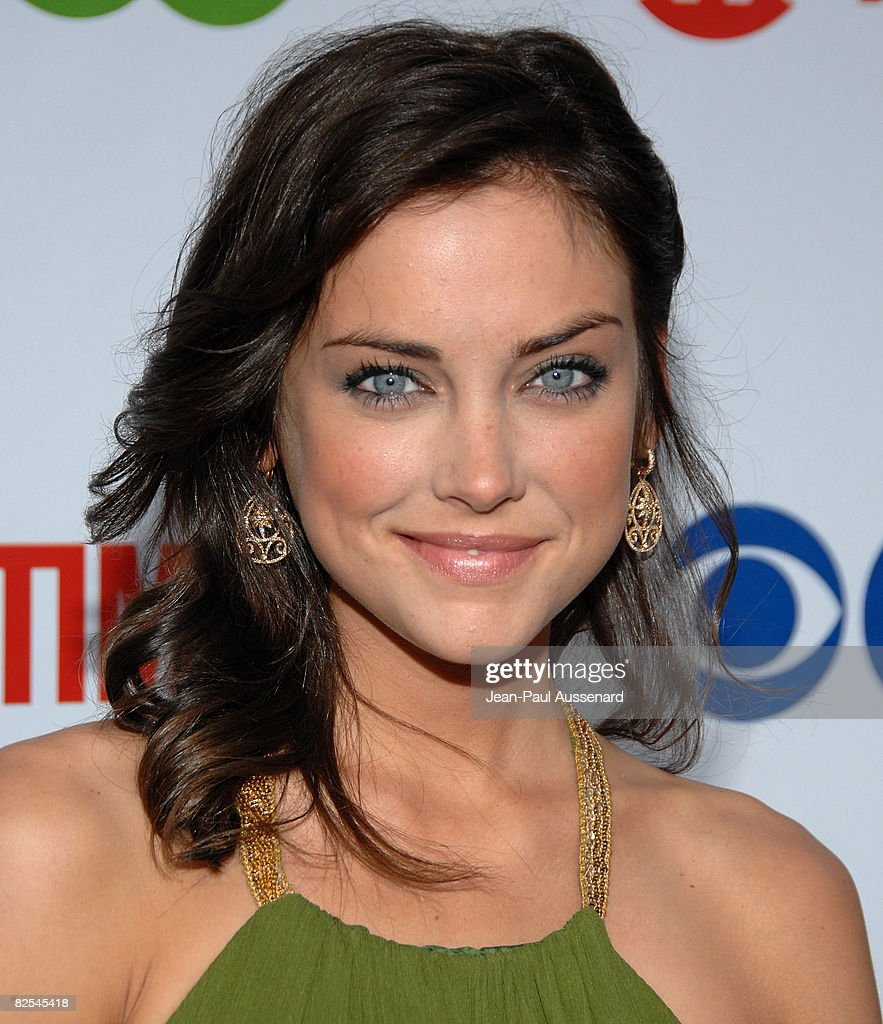 Actress Jessica Stroup arrives at the CBS, CW and Showtime Press Tour Stars Party held at Boulevard 3 on July 18th, 2008 in Hollywood, California.