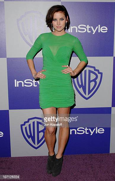 Actress Jessica Stroup arrives at the Warner Brothers/InStyle Golden Globes After Party at The Beverly Hilton Hotel on January 17 2010 in Beverly...