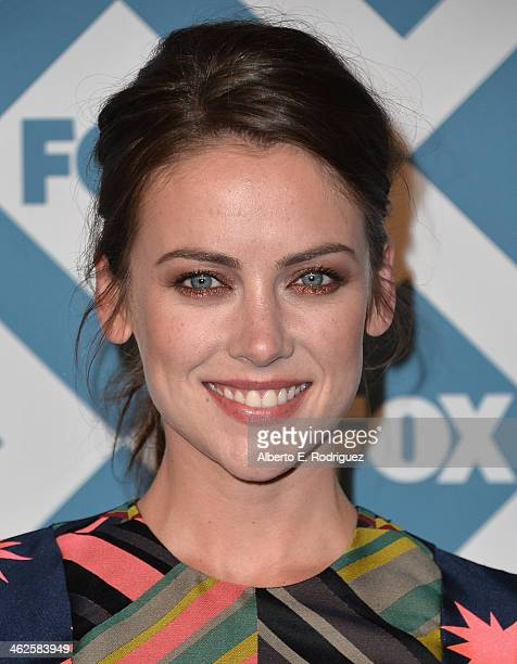 Actress Jessica Stroup arrives to the 2014 Fox AllStar Party at the Langham Hotel on January 13 2014 in Pasadena California