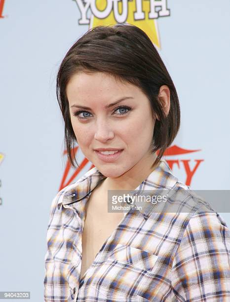 Actress Jessica Stroup arrives to Variety's 3rd Annual 'Power of Youth' event held at the Paramount Studios backlot on December 5 2009 in Los Angeles...