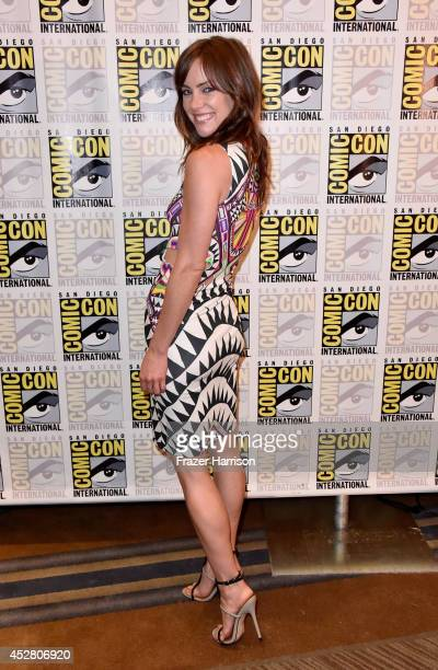 Actress Jessica Stroup attends FOX's 'The Following' press line during ComicCon International 2014 at Hilton Bayfront on July 27 2014 in San Diego...
