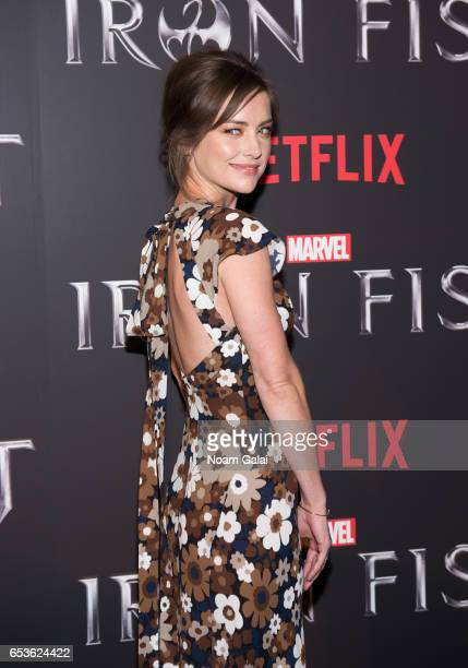 Actress Jessica Stroup attends Marvel's 'Iron Fist' New York screening at AMC Empire 25 on March 15 2017 in New York City