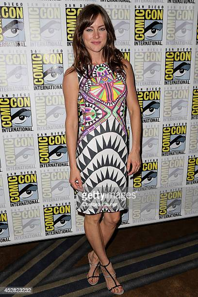 Actress Jessica Stroup attends 'The Following' press line at ComicCon International on July 27 2014 in San Diego California