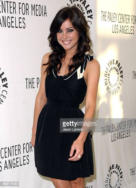 Actress Jessica Stroup attends the PaleyFest09 event for 'Beverly Hills 90210' at The Paley Center for Media on April 11 2009 in Beverly Hills...