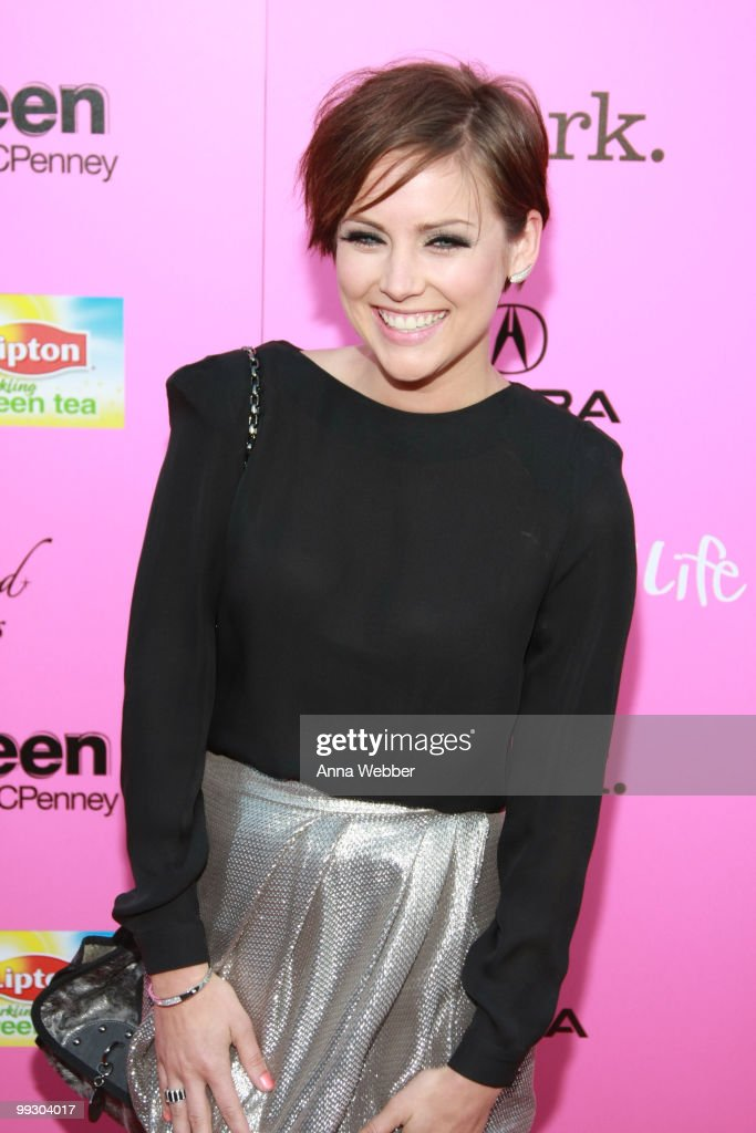 Actress Jessica Stroup wears Simon G Jewelry at the 2010 Hollywood Life Young Hollywood Awards on May 13, 2010 in Los Angeles, California.