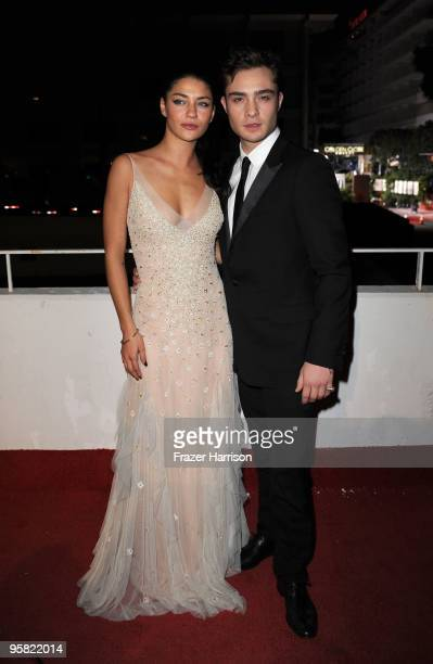 Actress Jessica Szohr and Ed Westwick arrives at the 3rd Annual Art Of Elysium 'Heaven' Gala Event in Beverly Hills on January 16 2010 in Los Angeles...
