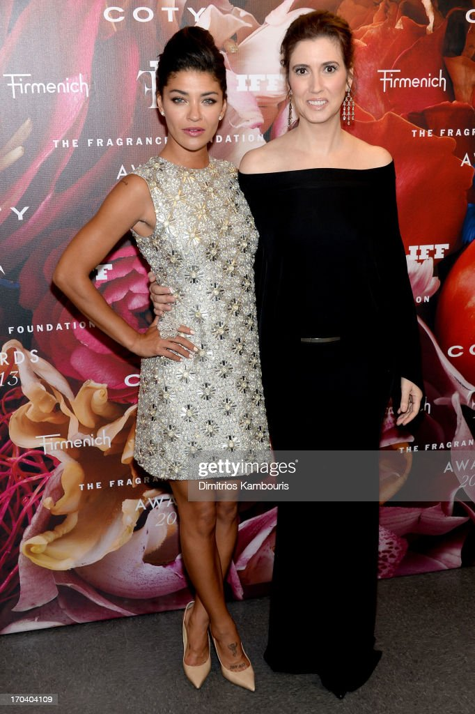 Actress Jessica Szohr and Elizabeth Musmanno attend the 2013 Fragrance Foundation Awards at Alice Tully Hall at Lincoln Center on June 12 2013 in New...