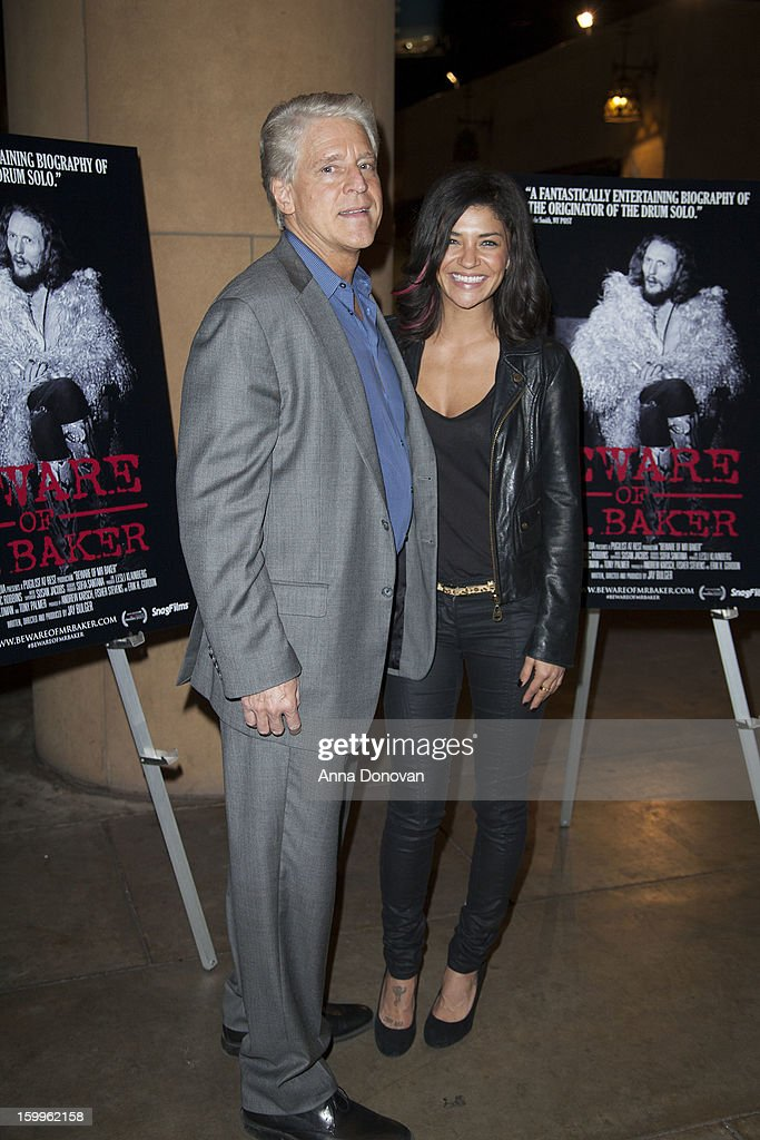 Actress Jessica Szohr and Rick Allen attend a special screening of 'Beware Of Mr Baker' at the Egyptian Theatre on January 23 2013 in Hollywood...