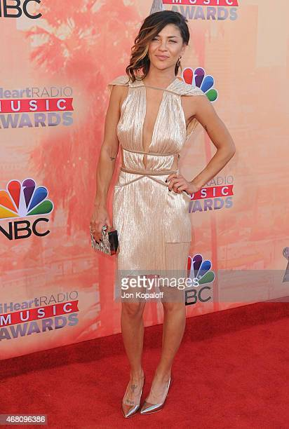 Actress Jessica Szohr arrives at the 2015 iHeartRadio Music Awards at The Shrine Auditorium on March 29 2015 in Los Angeles California