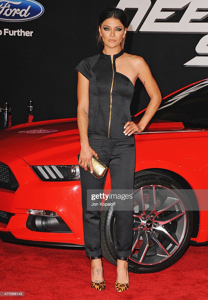 Actress <a gi-track='captionPersonalityLinkClicked' href=/galleries/search?phrase=Jessica+Szohr&family=editorial&specificpeople=4503387 ng-click='$event.stopPropagation()'>Jessica Szohr</a> arrives at the Los Angeles Premiere 'Need For Speed' at TCL Chinese Theatre on March 6, 2014 in Hollywood, California.