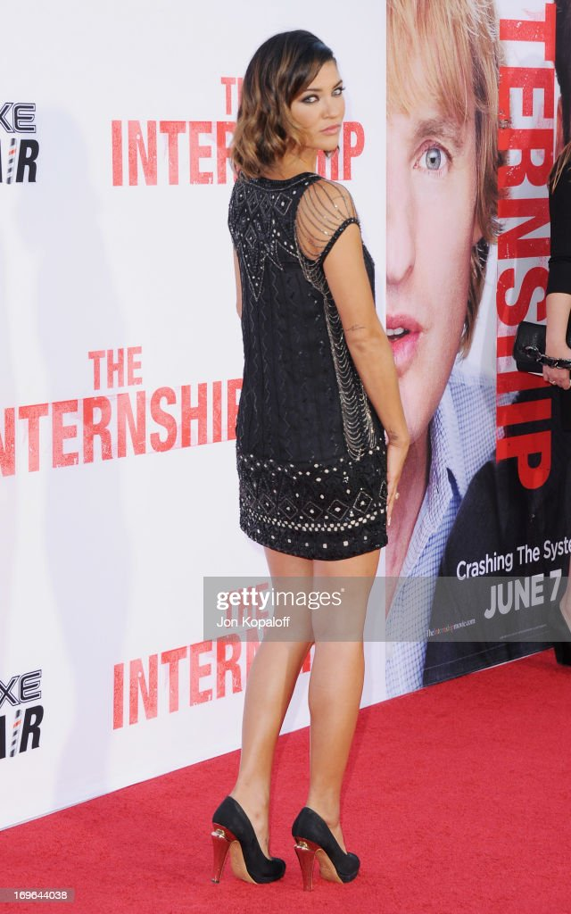 Actress Jessica Szohr arrives at the Los Angeles Premiere 'The Internship' at Regency Village Theatre on May 29, 2013 in Westwood, California.