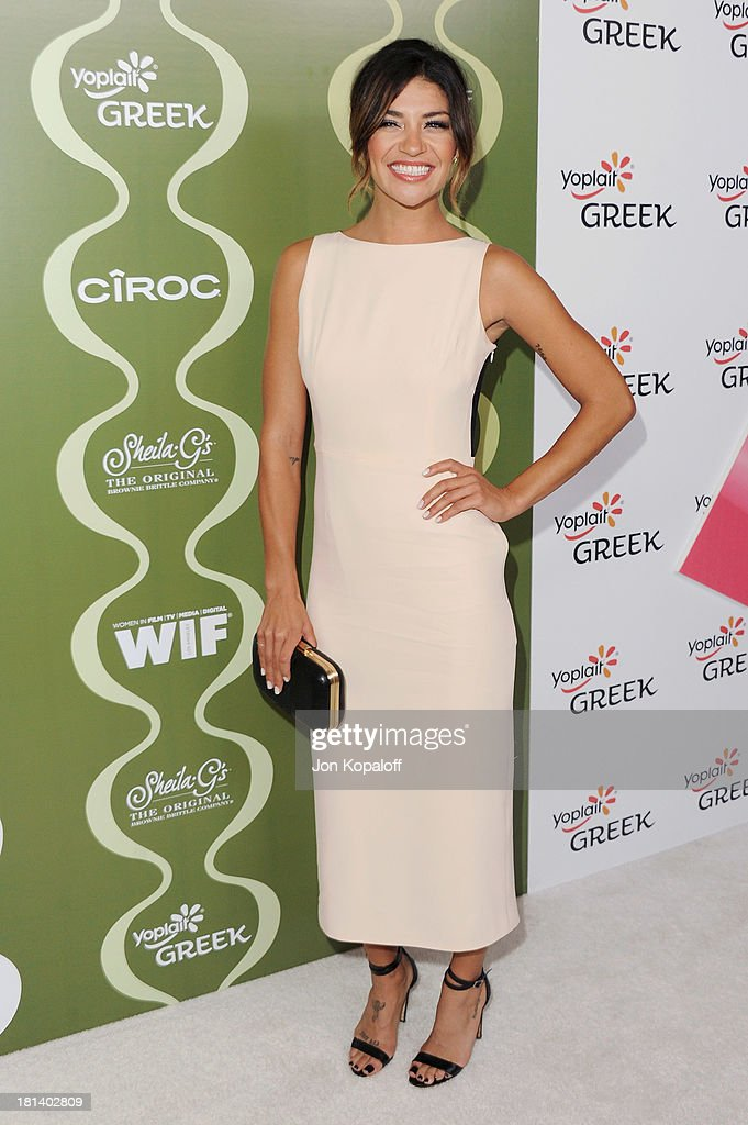 Actress <a gi-track='captionPersonalityLinkClicked' href=/galleries/search?phrase=Jessica+Szohr&family=editorial&specificpeople=4503387 ng-click='$event.stopPropagation()'>Jessica Szohr</a> arrives at the Variety And Women In Film Pre-Emmy Party at Scarpetta on September 20, 2013 in Beverly Hills, California.