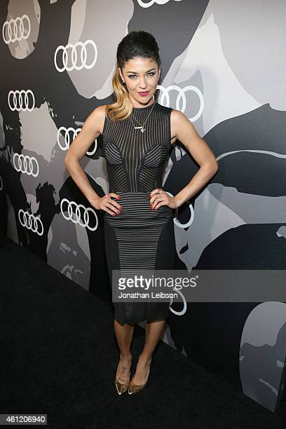 Actress Jessica Szohr attends Audi celebrates Golden Globes Week 2015 at Cecconi's Restaurant on January 8 2015 in Los Angeles California