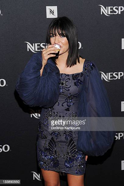 Actress Jessica Szohr attends Nespresso Press Room at the 39th International Emmy Awards at the Hilton New York on November 21 2011 in New York City