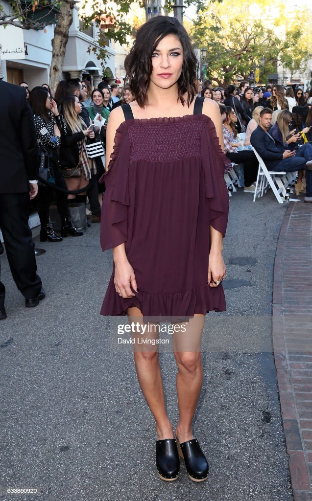 Actress Jessica Szohr attends Rebecca Minkkoff's 'See Now, Buy Now' fashion show at The Grove on February 4, 2017 in Los Angeles, California.