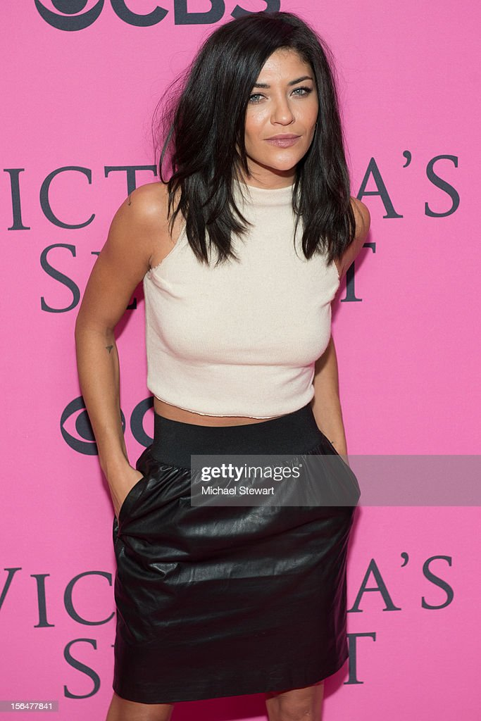 Actress Jessica Szohr attends the 2012 Victoria's Secret Fashion Show at the Lexington Avenue Armory on November 7, 2012 in New York City.