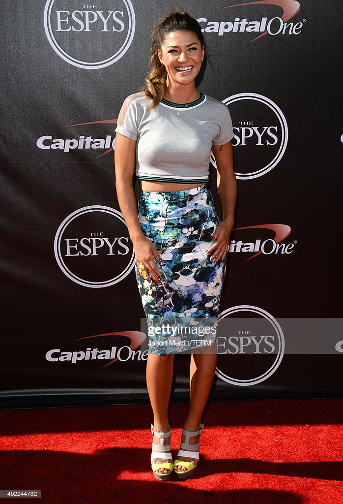 Actress <a gi-track='captionPersonalityLinkClicked' href=/galleries/search?phrase=Jessica+Szohr&family=editorial&specificpeople=4503387 ng-click='$event.stopPropagation()'>Jessica Szohr</a> attends The 2014 ESPY Awards at Nokia Theatre L.A. Live on July 16, 2014 in Los Angeles, California.