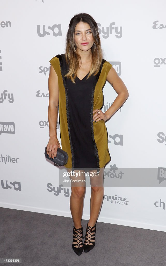 Actress Jessica Szohr attends the 2015 NBCUniversal Cable Entertainment Upfront at The Jacob K Javits Convention Center on May 14 2015 in New York...