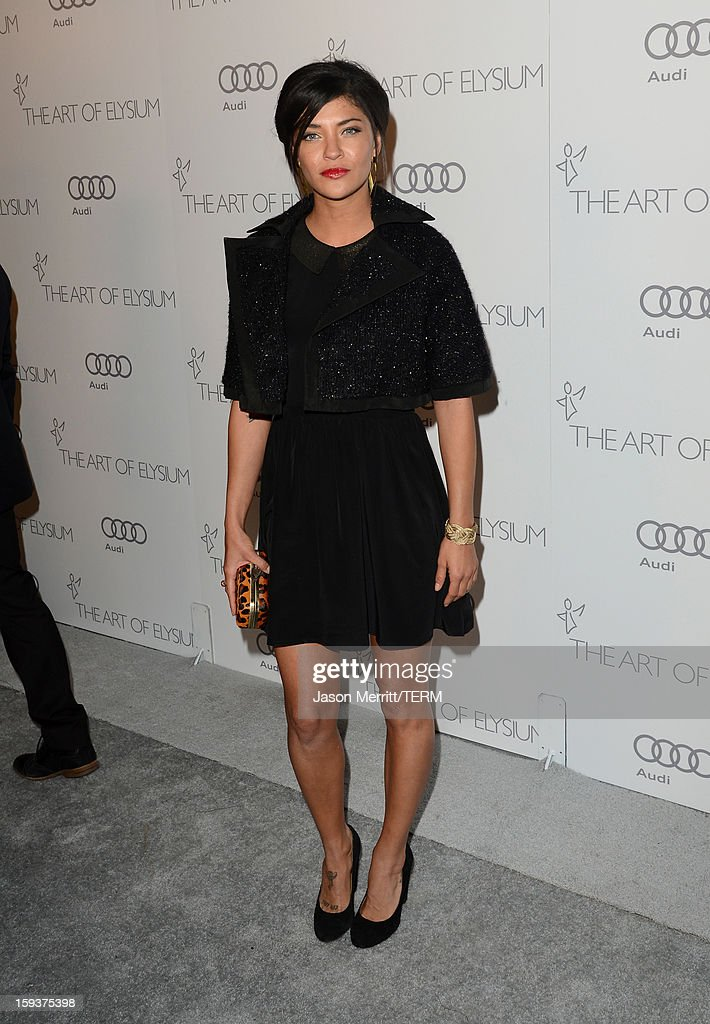 Actress Jessica Szohr attends The Art of Elysium's 6th Annual HEAVEN Gala presented by Audi at 2nd Street Tunnel on January 12, 2013 in Los Angeles, California.
