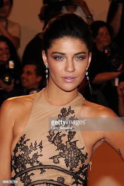 Actress Jessica Szohr attends the Costume Institute Gala Benefit to celebrate the opening of the 'American Woman Fashioning a National Identity'...