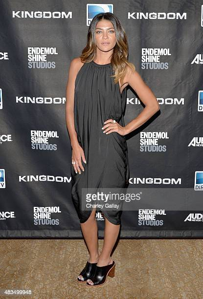 Actress Jessica Szohr attends the DIRECTV's presentation of KINGDOM at the 2015 Summer TCA Press Tour at The Beverly Hilton Hotel on August 9 2015 in...